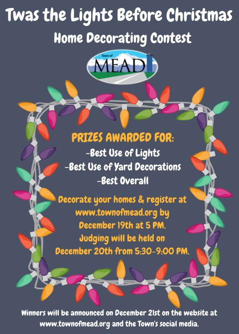 Christmas Contest Flyer.Twas The Lights Before Christmas Home Decorating Contest